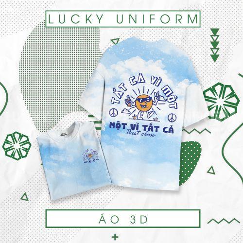 Áo 3D loang xanh trắng